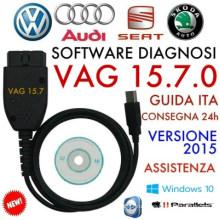 VAG C-O-М 15.7.1 новейшие 16,8 диагностический кабель Hex USB кабель для VW Audi Skoda вмещает Английский Германии 15.7.0