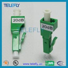 Atténuateur à fibre optique hybride LC / APC