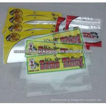 Isca de pesca saco de embalagem com janela transparente / saco de embalagem de plástico / embalagem isca de pesca suave