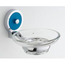 Sostenedor montado en la pared del jabón del cinc del cuarto de baño con el plato de cristal (JN10239)