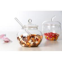 Segurança High Borosilcate Galss Armazenamento Jar Chá Pote