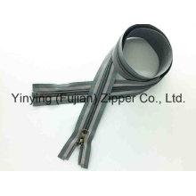 Reversible Slider Reflective Tape Nylon Cremallera para el abrigo