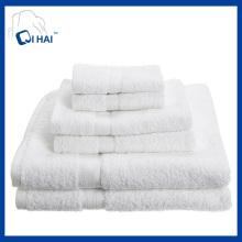 100% Cotton 5PCS White Towel Sets (QHSC34435)