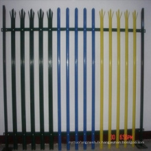Clôture en PVC plaqué en PVC à chaud
