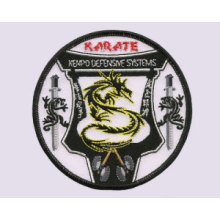 Customized Karate Embroidered Design Parches