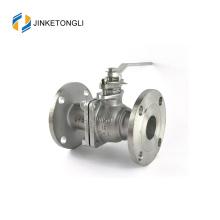 JKTLFB015 ferro fundido cf8m 1000wog Válvula esférica de punho de retorno de mola de 2 peças