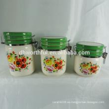 Nuevos artículos de cocina, contenedores de cerámica con tapas selladas para el almacenamiento de alimentos