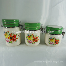 New kitchenware items,ceramic containers with sealed lids for food storage