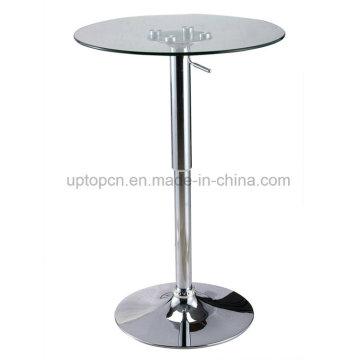 Бокал для коктейля высокий барный стол с лифтом, основание Крома (СП-BT641)
