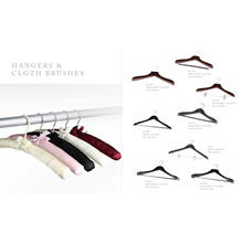 Hotel Luxury Suit Wooden Hangers with Bar