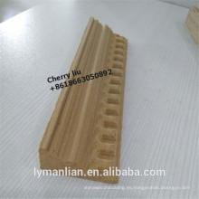 moldeado de madera de teca tallada en cnc moldura de madera de reconocimiento