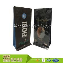 Les sacs d'emballage de café colombiens de café de valve de dégazage à sens unique de finition brillante de coutume durable