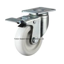 Caster Medium Duty Swivel W / Brake PP Caster