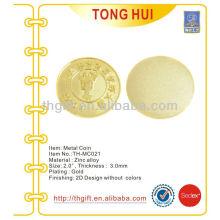 Werbeartikel Metall Gedenkmünze, Souvenir Münze für gegrillte Garnelen Match