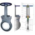Manual ceramic knife gate valve