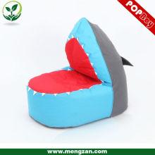 Forma de tiburón asiento beanbag juego, silla de bolsa de frijol para niño