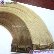 Vente chaude Double Dessiné Très épais Remy Cheveux Humains Blonde Couleur