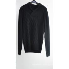 Jersey de cuello de pico de invierno hombre suéter jersey