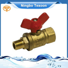191-TM red punch Brass Mini Ball Valve With Red Handle