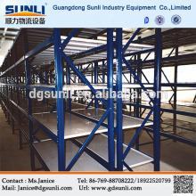 Guangdong proveedor medio chapa apilado estantes del almacenaje