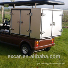 1-2 seats electric fuel type electric golf carts with customized food cargo