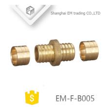 Encaixe de tubulação EM-F-B005 Brass macho união conector