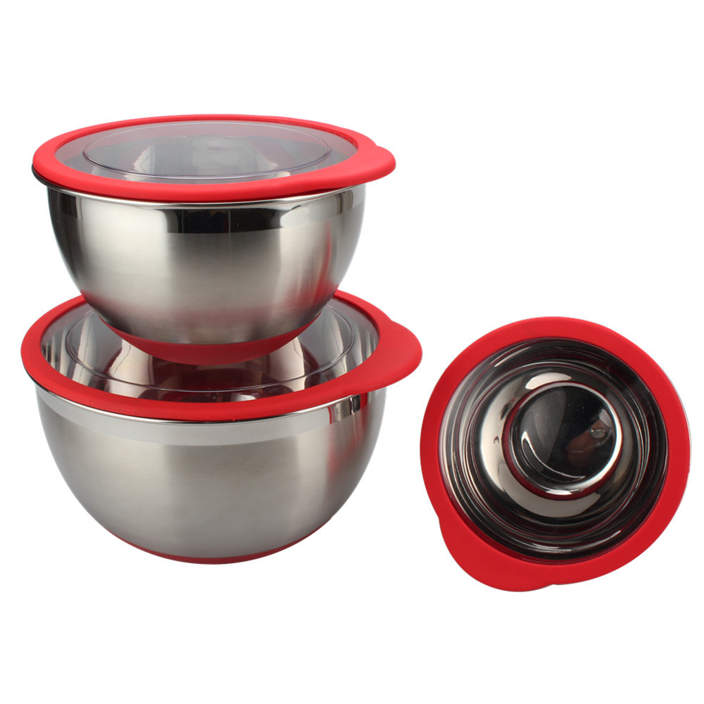3 Piece Stainless Steel Mixing Bowl With 1