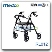 outdoor use Aluminum Rollator hot sale style RL012