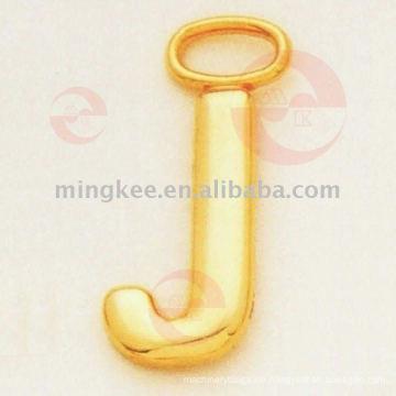 """Buchstaben- """"J"""" Zipper Puller / Slider (G8-156A)"""