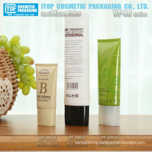 diameter 40mm and 50mm good looking special oblong screw cap oval pe plastic facial cream cosmetic packaging tube