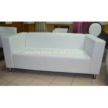 2 seater white leather sofa for rental XYN262