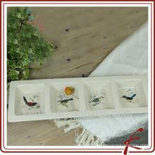 China-Fabrik-preiswertes keramisches Porzellan-Abendessen gesetztes Tafelgeschirr-Platte