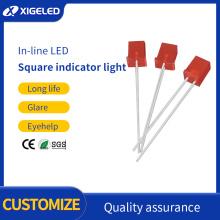 Cuentas de lámpara LED cuadradas LED indicador de dos colores