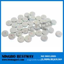 High Power Neodymium Disc Magnet with Red Mark