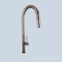 Stainless steel ancient brown kitchen vertical faucet