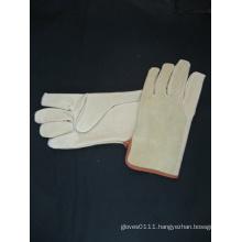 Pig Grain Leather Palm Split Leather Back Driver Work Glove
