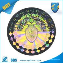 Hacer etiquetas holográficas de la hoja / poseer las etiquetas engomadas del holograma del logotipo / etiquetas holográficas de la seguridad