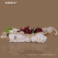 Weihnachten Haus Dekor Tier Schwein Statue Obst Tablett