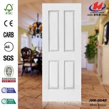 JHK-004P Mordern Design Textura de grão de madeira Decorativo branco pele da porta do primer Melhor fazer