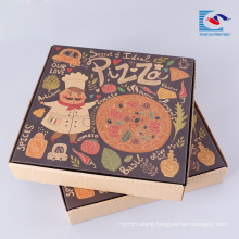 logo printed pizza packaging box with logo