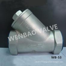 Prix de filtre à basse pression en acier inoxydable CF8 Y Filter