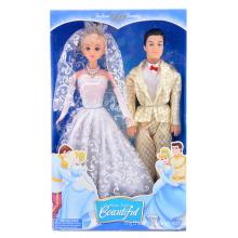 11 Inch Girl Favor Plastic Princess and Prince Doll (10241463)