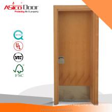 Solid Door Fire Rated Wooden Door in Steel Frame Wood Finish BM TRADA standard