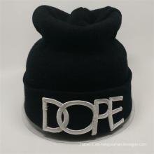 El sombrero hecho punto de encargo de la gorrita tejida del pom del estilo coreano hizo punto el sombrero con alta calidad