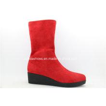 Últimas botas de moda vermelho brilhante para senhora sexy