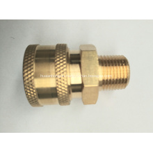 """Pressure Washer 1/4"""" Male NPT-M Quick Connect Brass Coupler 5000 PSI"""