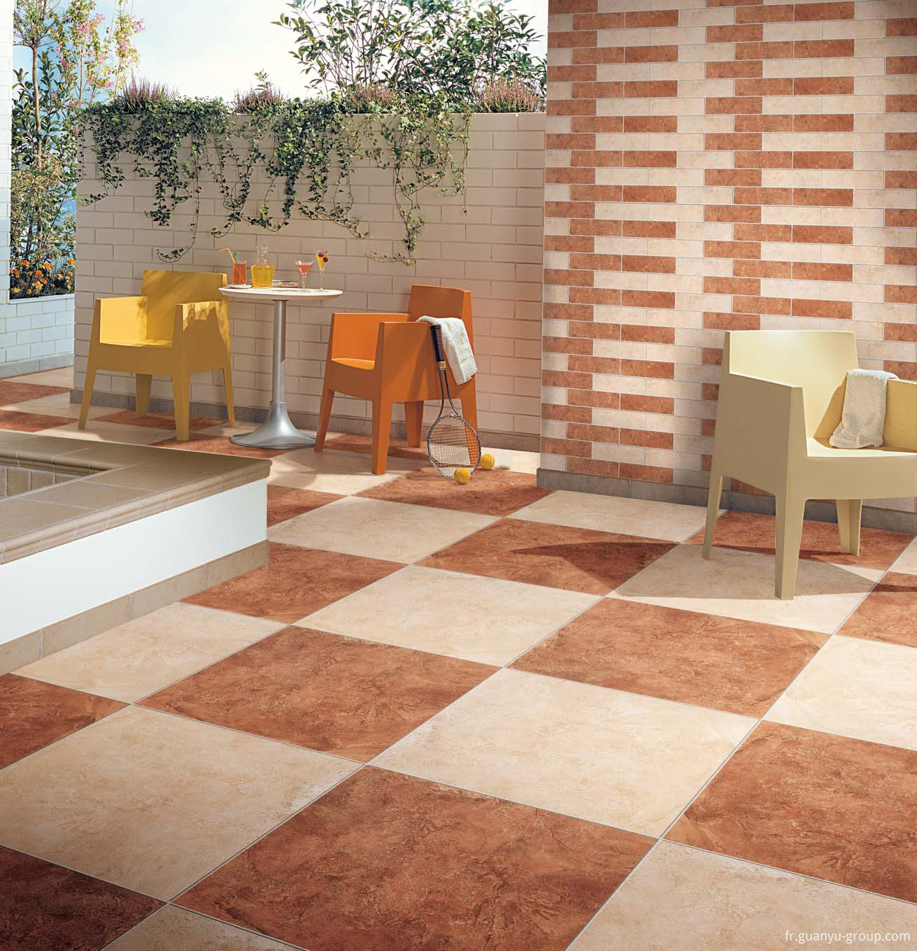 Travertine Star Glazed Surface Porcelain Tile