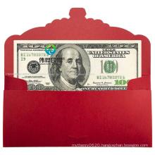 Custom Design Printing Red Packet Envelope Lucky Red Wedding Envelope