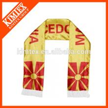 2014 Mode kundenspezifische Polyester-Fans Fußballmannschaft Schal