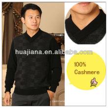 2014 camisola masculina de moda kashmir V pescoço